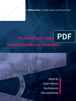 Purchasing to Improve Health System