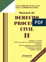 Manual de Derecho Procesal Civil. Tomo 2. Ferreira de de La Rua, Angelina