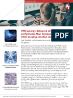 HPE Synergy delivered stronger database performance than Amazon Web Services while keeping sensitive data on premises