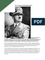 Hitler Escapo Del Fuhrerbunker