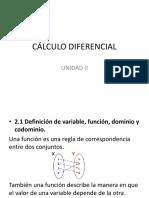 Cálculo Diferencial unidad 2
