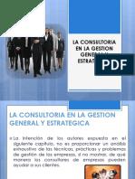La Consultoria en La Gestión General y Estratégica