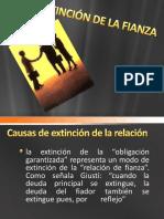 Extinción de La Fianza
