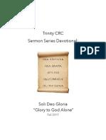 Reformation Devotion - Soli Deo Gloria