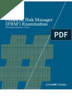 2012 FRM Practice Exam