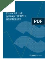 2011 FRM Practice Exam