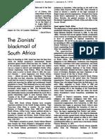Relaciones Entre Israel y La SudafricaApartheid