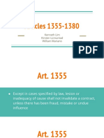 Law 11 - Articles 1355-1380
