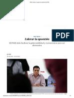 PSOE_ Liderar La Oposición _ Opinión _ EL PAÍS