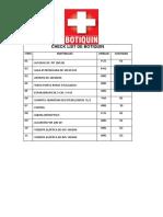 Check List de Botiquin