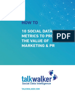 10 Social Data Merics to Prove the Value of Marketing Pr