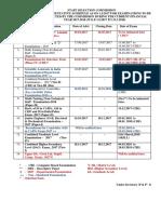 Exam Schedule 2015