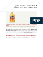 Borrifador Para Cabelos Cacheados - NUTRIÇÃO