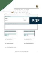 FYP Registration Form