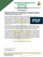 Nota de Prensa 019-2017