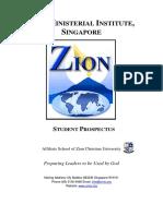 ZMIS Student Prospectus 2014
