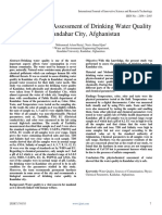 1Physiochemical Assessment of Drinking Water Quality in Kandahar City Reviewed