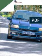 """RENAULT CLIO 1.8 16V FRENTE AO CLIO 2.0 WILLIAMS NA """"TOPOS & CLÁSSICOS"""""""