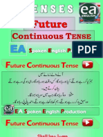 Future Continuous Tense in Urdu by EA Spoken English With Emran Ali Rai on YouTube