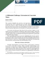 A Millennial Challenge