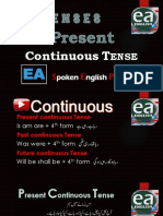 Present Continuous Tense in Urdu by EA Spoken English With Emran Ali Rai on YouTube