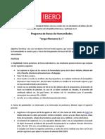 Politicas Del Programa de Becas de Humanidades 2017-2018 Con Link de Reg