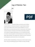 The Ideology of Pakistan