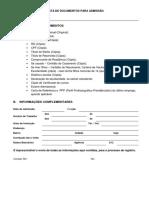 Lista de Documentos Para Admissão