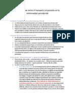 Interacciones Entre El Huesped y El Parasito en La Enfermedad Periodontal