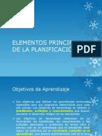 ELEMENTOS PRINCIPALES DE LA PLANIFICACI�N1