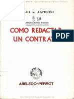 Alterini, Jorge Como Redactar Un Contrato