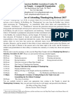 The Invitation Letter of Attending Thanksgiving Retreat 2017