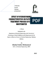EFFECT of HYDRODYNAMIC Characteristics on Flotation Treatment Process of Oily Wastewater