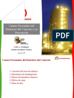 Causas frecuentes del deterioro del concreto y su prevención