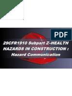 OSHA 10 Slides 03 - Hazard Communication