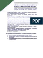 Fuciones Objetivos Arequipa de INEI