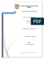 Analisis Plan de Estudios 2012