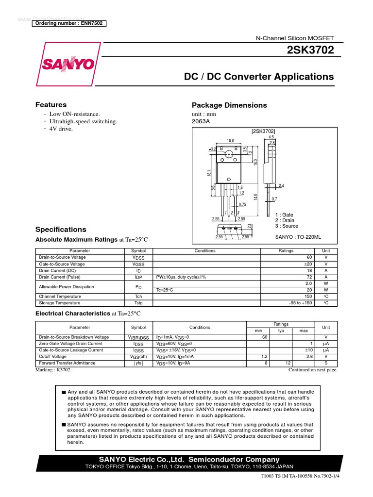 Datasheethk K3702 3696473 Field Effect Transistor Electrical G730 Circuit Diagram Engineering
