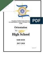 Orientation to HS 2017-2018 RevFall2017