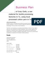 Textile Business Plan