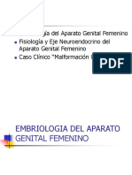 Embriologia, Fisiologia, aparato genital femenino.