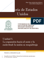 Unidad 5 La Expansión Hacia El Oeste y La Esclavitud (Avance)