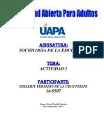 Tarea i Sociologia de La Educacion