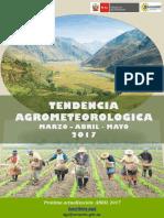 Tendencia Agrometeorologica (Marzo-Abril-mayo 2017)