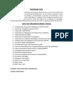 Lista de Organicaciones Civiles
