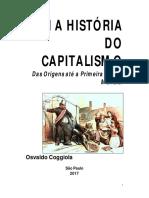 COGGIOLA, Osvaldo - As Origens Do Capitalismo