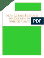 Plan Estrategico de La Empresa Rayton(Confecion de Pantalones)