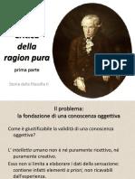 Kant - Critica Della Ragion Pura (Prima Parte)