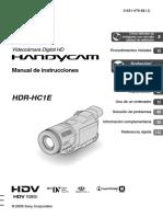 Handycam HDV 1080i Sony Manual Español