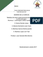 Medidas del sector gubernamental